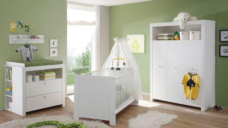 Cameretta bianca per bambini Aida, camerette moderne, con armadio e fasciatoio - Mobili arredamenti di qualità a prezzi accessibili, per una casa moderna ed accogliente