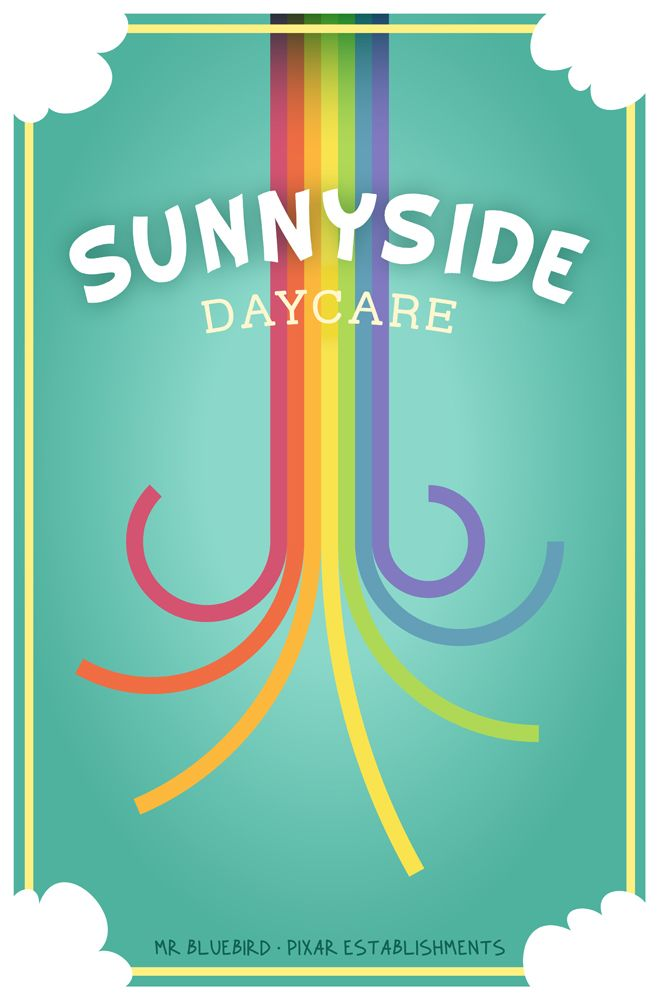 Mario Graciotti's Pixar Business Posters: Sunnyside Daycare From Toy Story 3