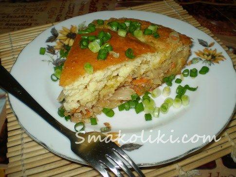 Наливной пирог с капустой. Пошаговый рецепт с фото на Smakoliki.com