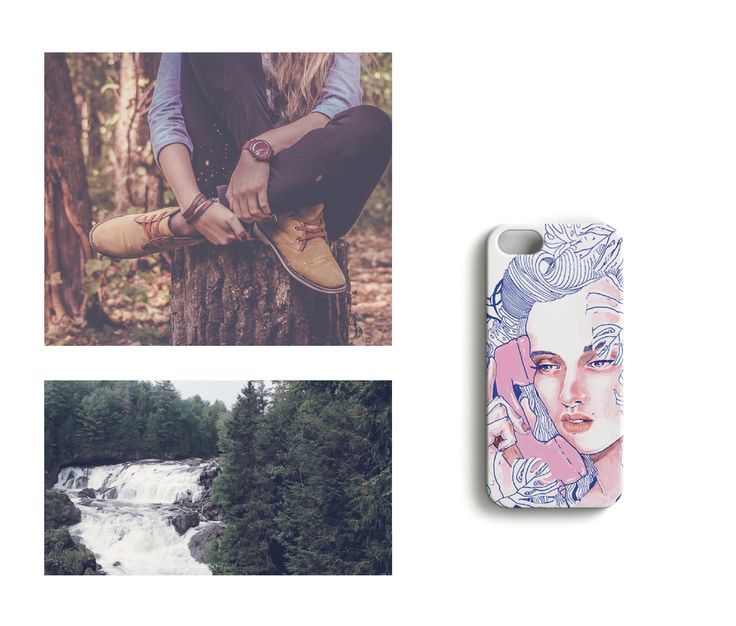 Forest breeze //Nature Calling iPhone case designed by Anna Salmi.