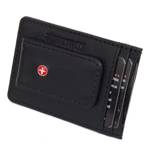 Leather magnetic money clip. Slim and thin, perfect front pocket wallet to carry some money ID and a few cards. #Wallet #Money Clips #Leather