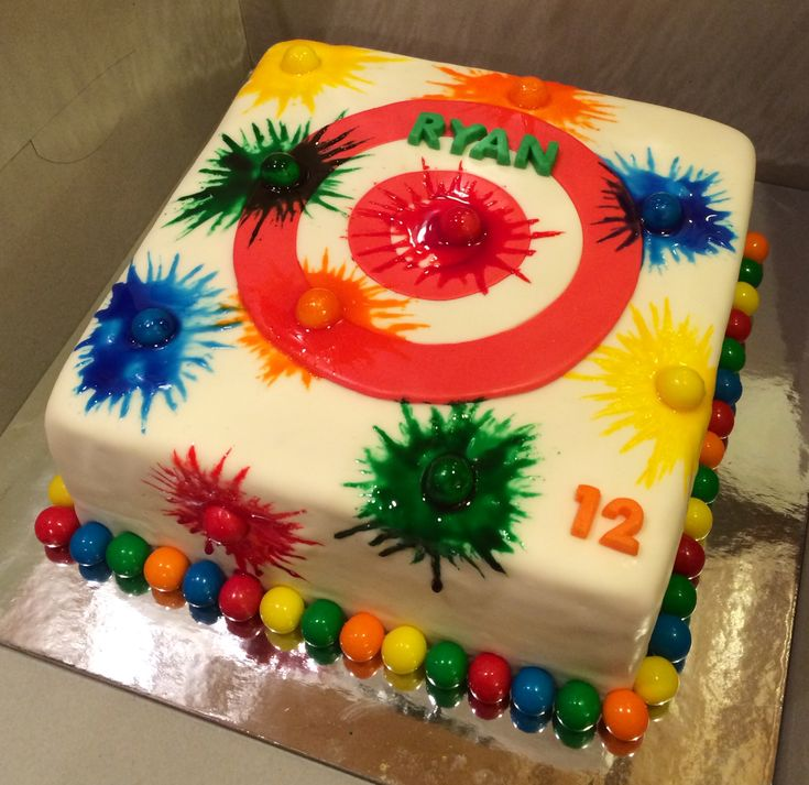 Paintball cake Paintball Birthday Party Ideas Low Impact Splatmaster Kids Fun Family Boston Paintball Boys Girls