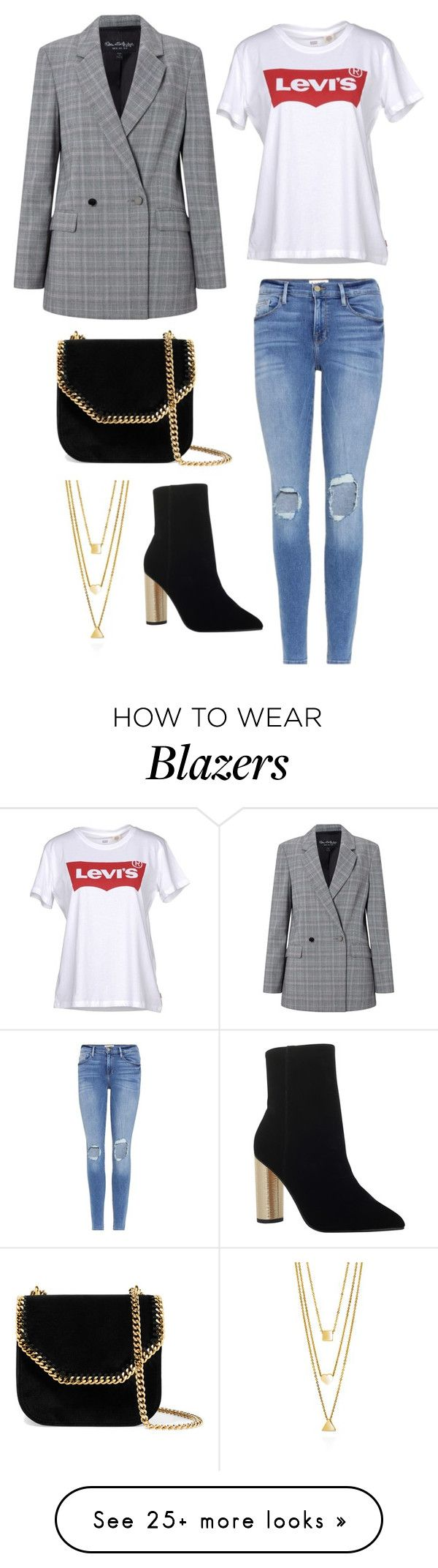 """Untitled #1847"" by rubysparks90 on Polyvore featuring Levi's, Frame, Miss Selfridge, KG Kurt Geiger, STELLA McCARTNEY and BERRICLE"