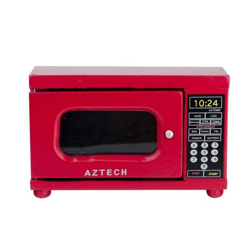 Red+Microwave+Oven - Miniatures - Adorable  !!!!