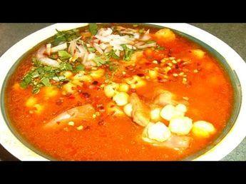 MENUDO ROJO con Pancita de res en olla lenta receta mexicana- Complaciendo Paladares - YouTube