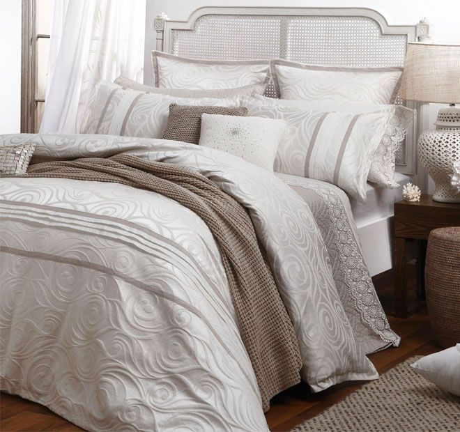 Private Collection Seraphina Quilt Cover Set Range Alabaster