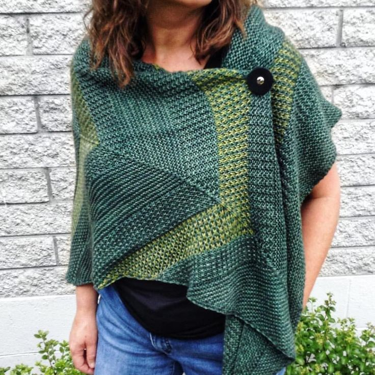 Its still hot hot hot  here and its soooo delicious! But oh man theres a little part of me that longs for chilly days and gorgeous woolly layers  . Helene made this stunning #flindra for her friend and Im drooling at the gorgeous green on green colour combo her squishy soft yarn and that absolutely fantastic leather shawl pin!! . p.s. If you love this look too - the yarn and the shawl pins are available from the very talented @happygoknitty