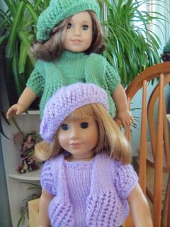 Free knit pattern american girl doll spring beret hat