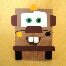 Mater paper bag for sack lunches or party favors