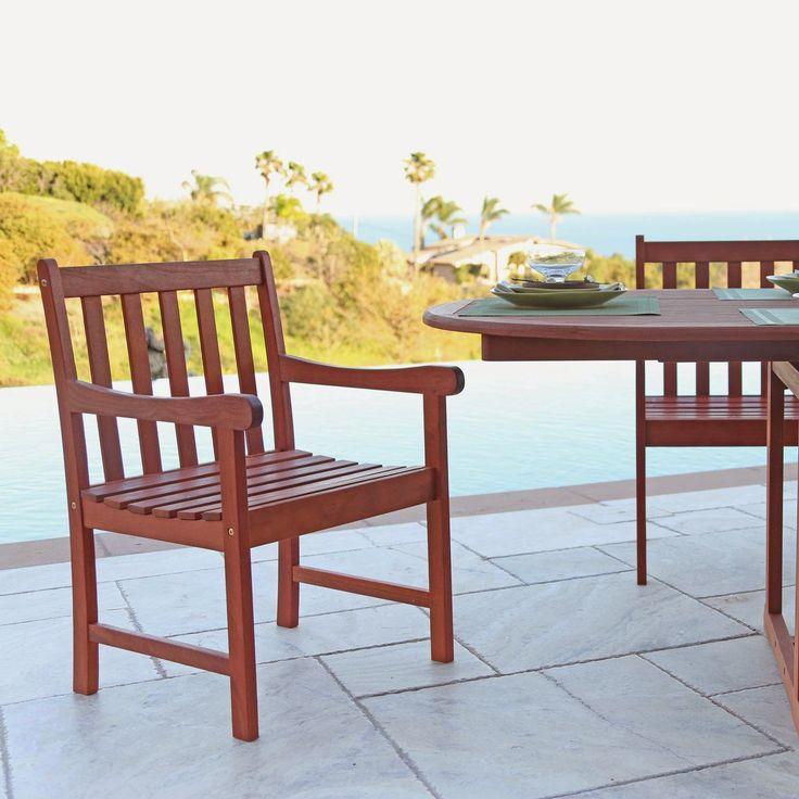 Vifah Outdoor Dining Arm Chair