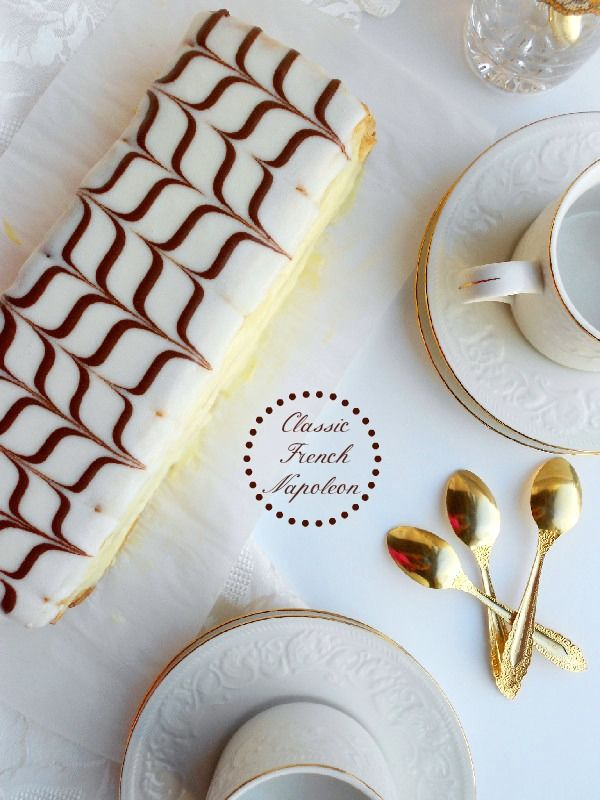Classic French Napoleon (Mille-Feuille)-my favorite, and every time I go to the…                                                                                                                                                                                 More