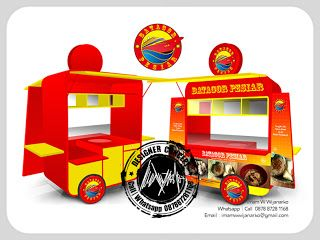 Desain Logo | Logo Kuliner |  Desain Gerobak | Jasa Desain dan Produksi Gerobak | Branding: Desain Gerobak Batagor Pesiar