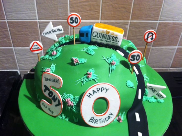 Over The Hill Cake Made For A Lorry Driver Including