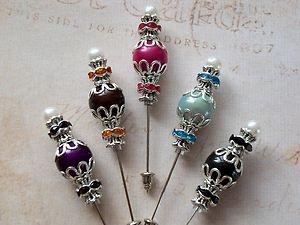 5 beautiful hat  pins |