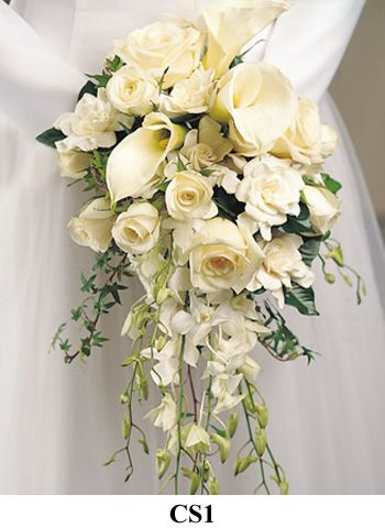Elegant modern bridal bouquet of white calla lillies and roses - 57 Best Images About Bouquets On Pinterest Babies Breath