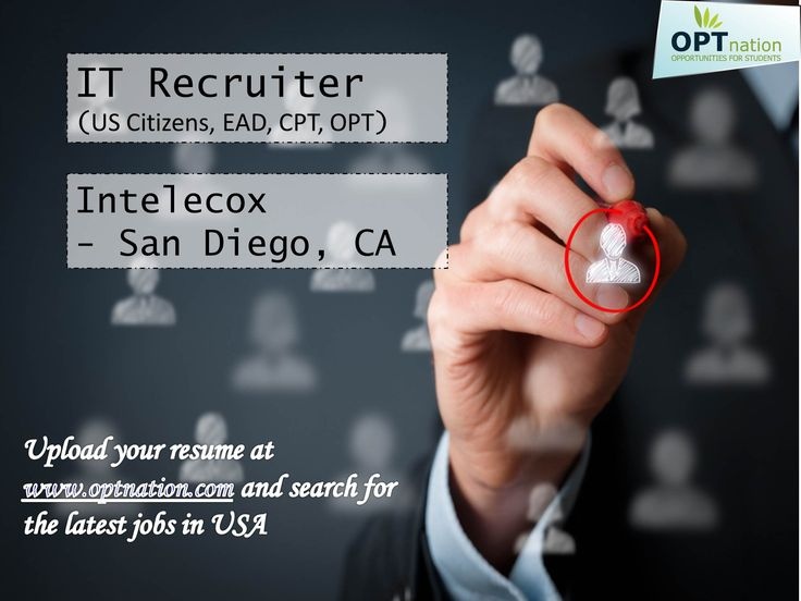 IT Recruiter #jobs #jobsearch #OPT #CPT #EAD #US #GSC Intelecox - international student recruiter sample resume