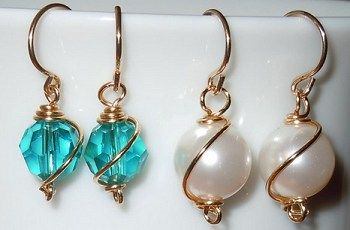 Wire wrapped Swarovski crystal beads and pearls. Fun and easy projects posted on our Idea Page. See the Idea Pages for details and materials lists on hundreds of projects!