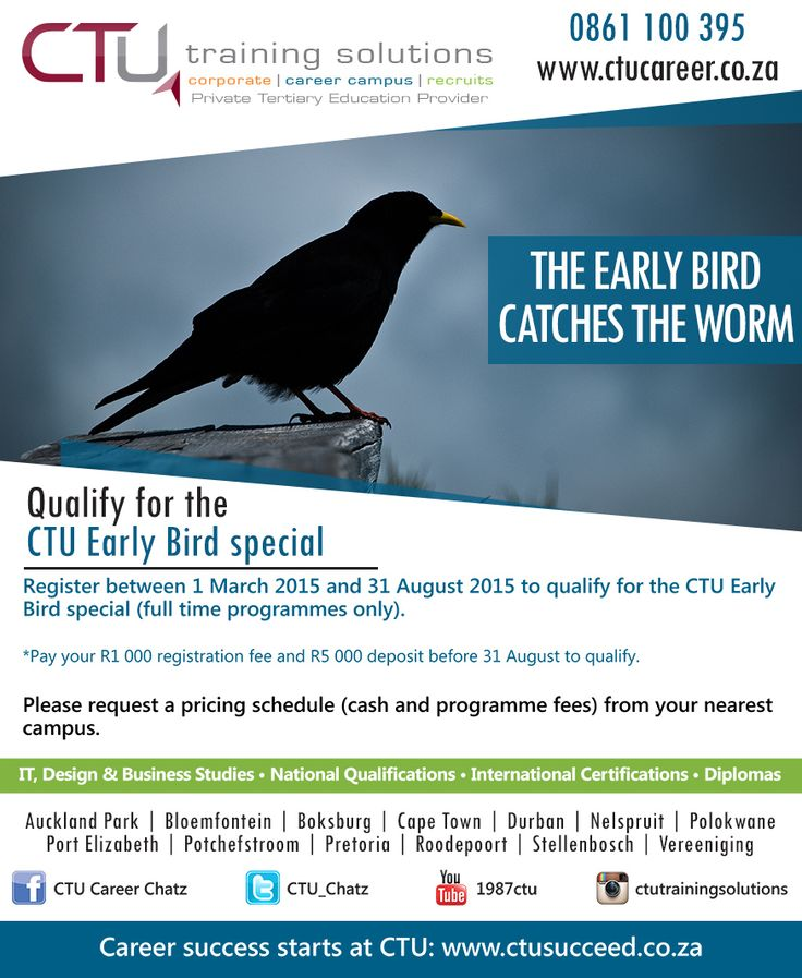 1 month left to qualify for the Early Bird special. Register now for 2016!