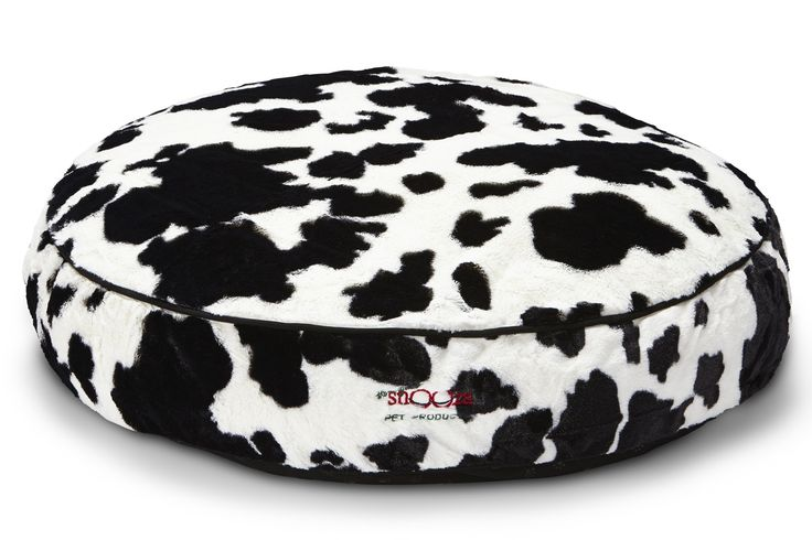 SNOOZA SHAPES ROUND DOG BED - COW PRINT