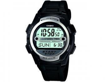 Relógio Masculino Casio Mundial W-756-1AVDF - Digital Resistente à Água Cronógrafo Calendário