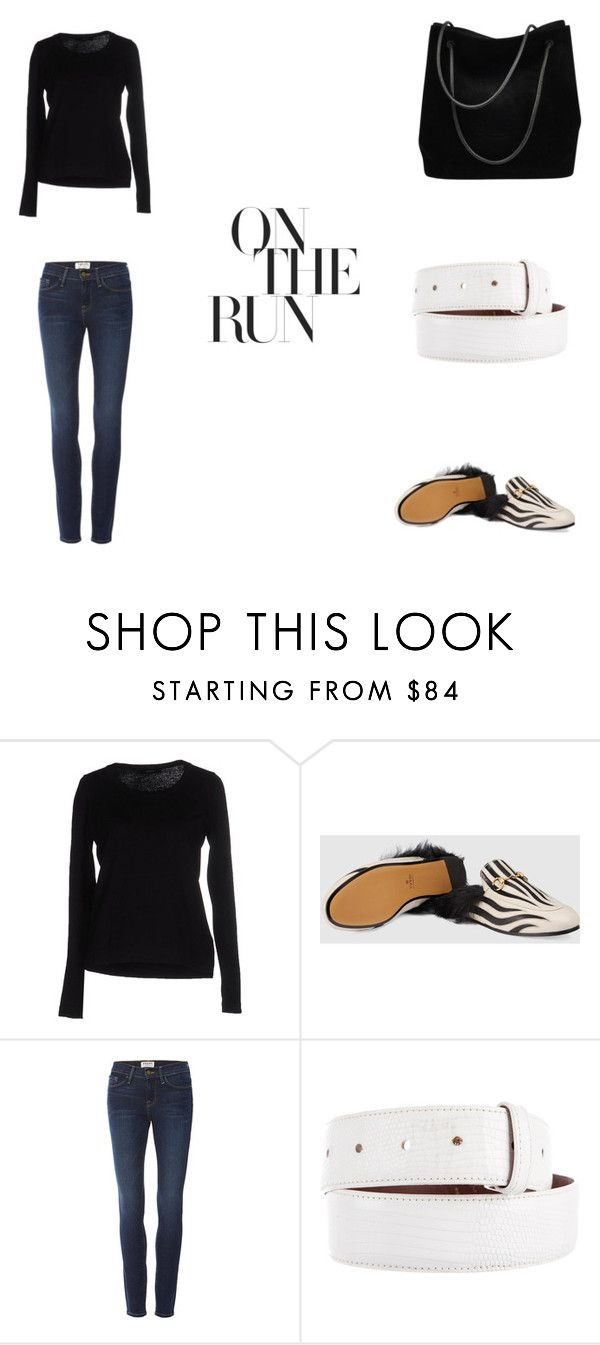 """Weekend Warrior...bring it!"" by lstrohm1 on Polyvore featuring Alpha Studio, Gucci and Frame"