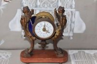 Pendule ancienne Pendulette ancienne pour pièce cassée bloquée 15cm de haut 19èm