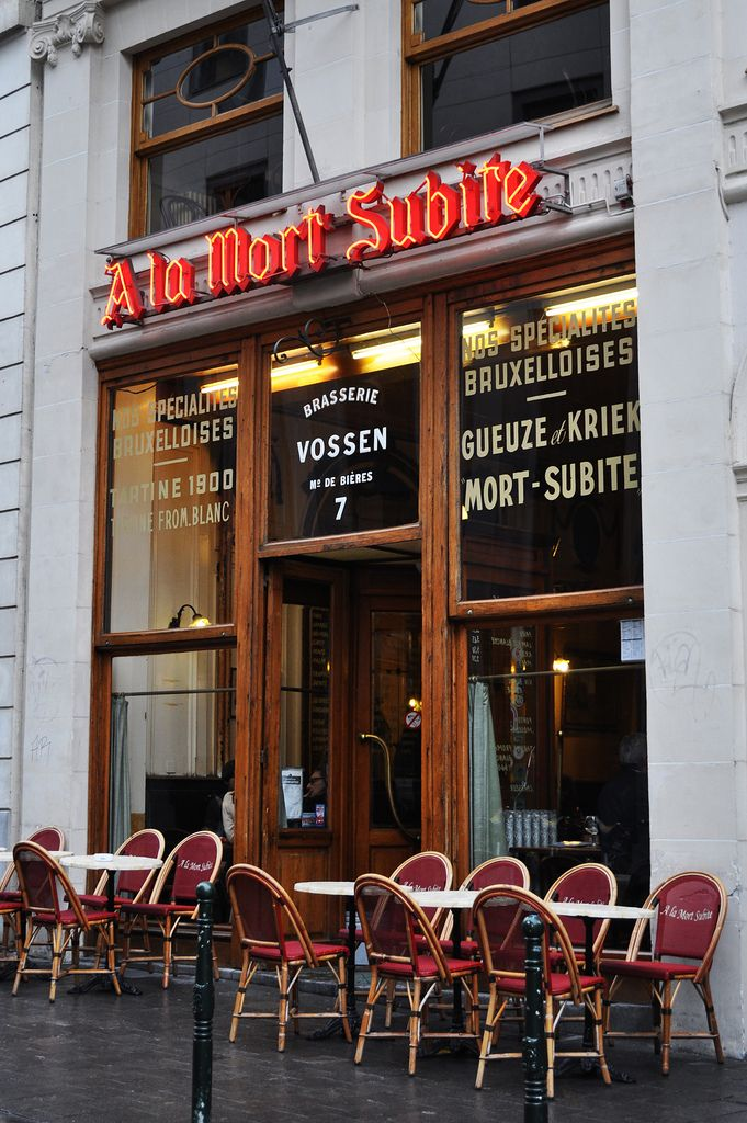 A la Mort Subite | Brussels - Fun place to visit if you like beer or old style cafes