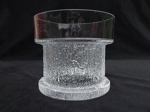 "Iittala ""Kaarna"" glass vase. Designed by Timo Sarpaneva"