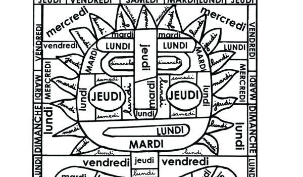 Coloriage Magique Jours Cp.Coloriage Magique Jours De La Semaine Cp Best Of Anglais