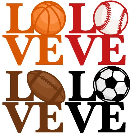 Love Sports Titles SVG scrapbook cut file cute clipart clip art files for silhouette cricut pazzles free svgs free svg cuts cute cut files