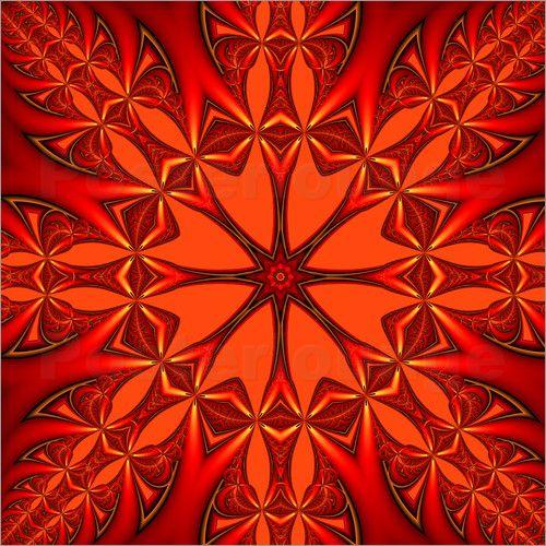 gabiw Art - Rotes Mandala