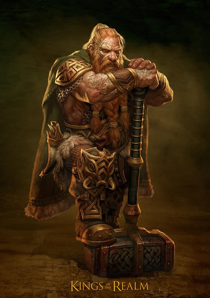 Flaga the Golden Dwarf, King of the Gold Coast and wielded of The Dancing Hammer of Ban Edendoom