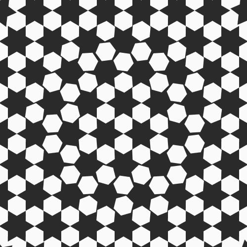 beesandbombs:  hexagons / stars