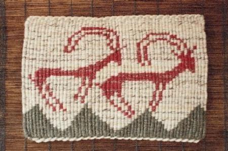 antílopes tapiz algodón,lana,madera taaniko,