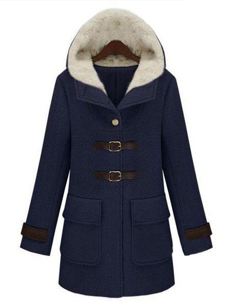 Veste avec capuchon -Bleu marine  EUR€50.78