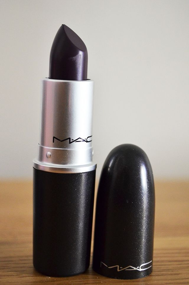 "MAC - ""Cyber"" just added this to my collection for fall.. Such a rich dark plum color! Love love love"