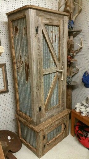 rustic cabinet-pallet
