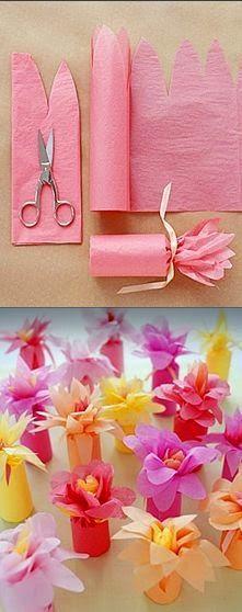 flores con papel de china