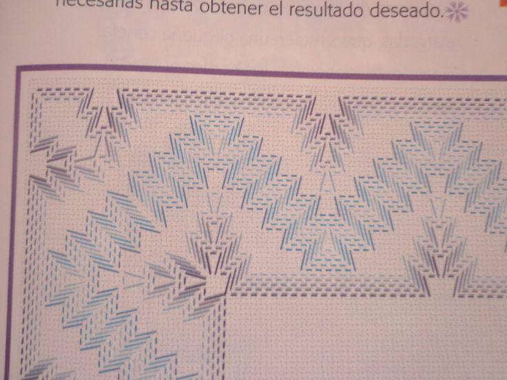Huck embroidery - cornering