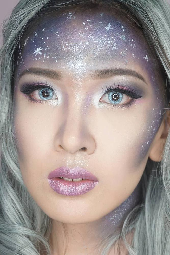 Galactic Makeup The Hottest New Makeup Trend Is Here For - 21 girls forgotten eyebrows look like