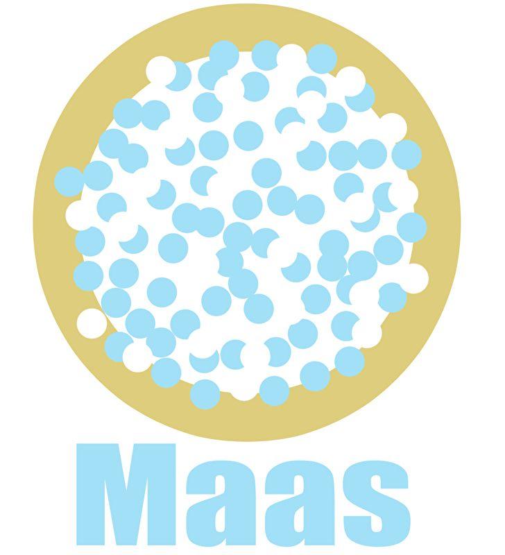Geboortesticker beschuit met muisjes type Maas
