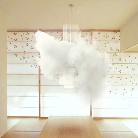 For those too lazy to plan your weekend activities by checking weather.com obsessively, Zürich-based Micasa LAB has developed the perfect product for you! Using meteorological data from MetOff, the Nebula 12,which dangles from the ceiling like a transparent light fixture, uses liquid nitrogen, WiFi, and high-powered vacuum suction to replicate outside weather patterns up to 48 hours in advance.