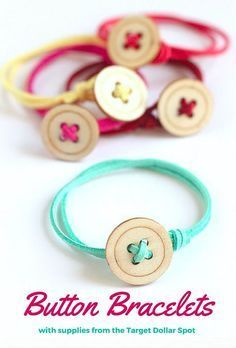 Easy to Make Button Bracelets