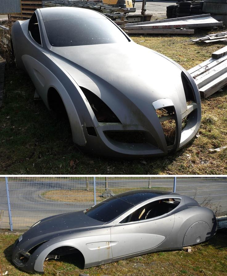 Rotting Body Of A Concept Car I Saw It On A Yard In Adenau Near