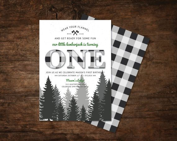 Lumberjacks, Camping parties and Invitations on Pinterest