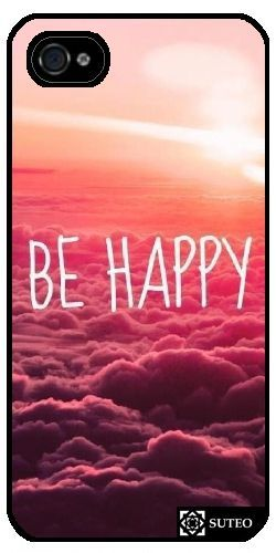 (1) - Coque Iphone 4/4s ¿ Be Happy - Ref 722 pas cher - PriceMinister