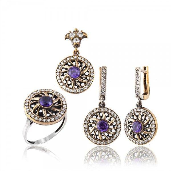Authentic Sterling Silver Amethyst Stone Set www.hanedansilver.com #Roxelana #East #Market #Hurrem #Jewellers #Silver #Earring #Jewelers #Ottoman #GrandBazaar #Earring #Silver #Pendant #Silver #Bracelet #Anadolu #Schmuck #Silver #Bead #Bracelet #East #Authentic #Jewelry #Necklace #Jewellery #Silver #Ring #Silver #Necklace #Pendant #Antique #istanbul #Turkiye #Reliable #Outlet #Wholesale #Jewelry #Factory