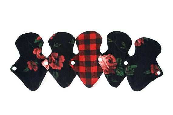 Set of 5 Panty Liners/Flannel Reusable Panty Liners/ washable