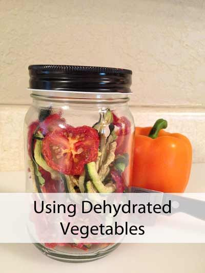 You're all dried up! How do you use all your dehydrated veggies?http://www.momprepares.com/2013/04/18/using-dehydrated-vegetables/15340