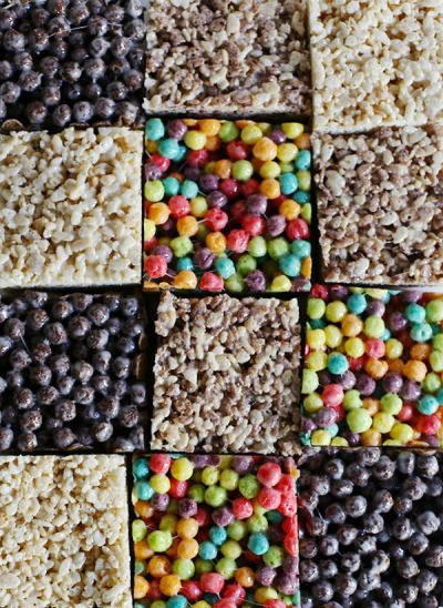 Fun cereal bars: http://www.stylemepretty.com/living/2015/03/12/marshmallow-cereal-bars/ | Photography: Waiting on Martha - http://waitingonmartha.com/